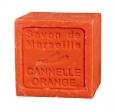 Le Chatelard Mýdlo kostka - Pomeranč a skořice, 100g