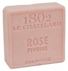 Le Chatelard Mýdlo čtverec - Růže a pivoňka, 100g