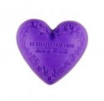 Le Chatelard Mýdlo ve tvaru srdce - Fialka a ostružiny, 100g