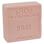 Le Chatelard Mýdlo čtverec - Růže, 100g